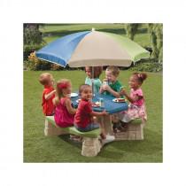 Step2 picknickbord med paraplyet ( Light färg)